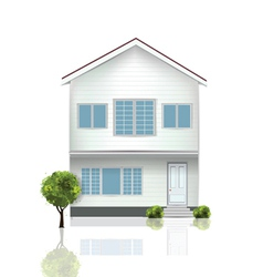 beautiful house vector image vector image
