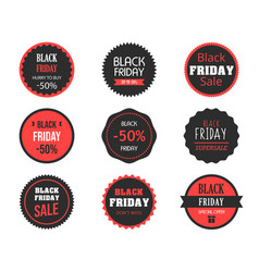 black friday sales tag set vector image