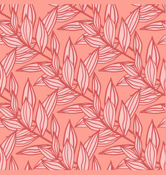 Botanic seamless pattern with outline branches vector