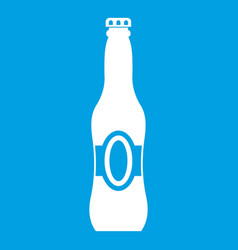 Bottle of beer icon white vector