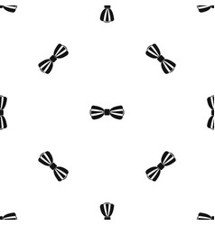 bow tie pattern seamless black vector image