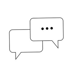 bubble speech talk message communication web app vector image