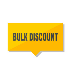 Bulk discount price tag vector