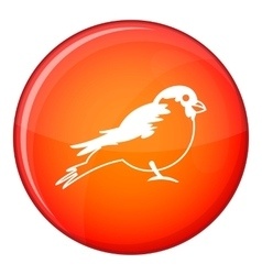 Bullfinch icon flat style vector image