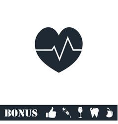 Cardiogram icon flat vector