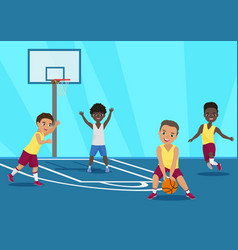 cartoon of kids playing vector image