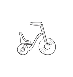 Child bike sketch icon vector image