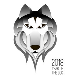 chinese 2018 dog symbol vector image