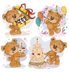 Clip art of teddy bear wishes you a vector