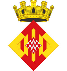 coat of arms of girona is a province of spain vector image
