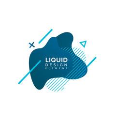 Color abstract liquid shape fluid color overlap vector