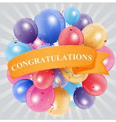 congratulations celebration with balloon vector image