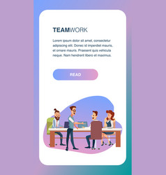 creative business team meeting ot office workplace vector image