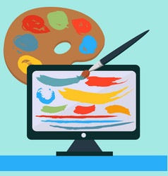 creative web design artistic form with paint vector image