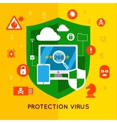Data Protection Flat Poster vector image