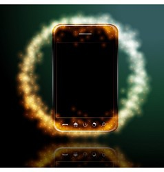 Digital mobile phone vector image
