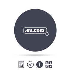 Domain eucom sign icon internet subdomain vector