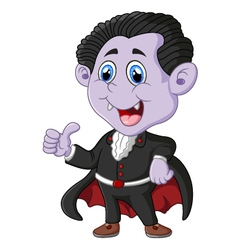 Dracula cartoon thumb up vector