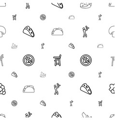 Eating icons pattern seamless white background vector