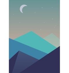 Flat simple landscape background vector image