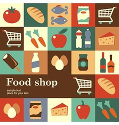 Food shop vector