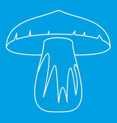 Forest mushroom icon outline style vector
