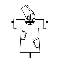 garden scarecrow icon outline style vector image