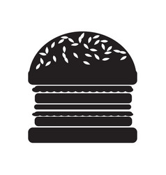 Hamburger flat icon vector