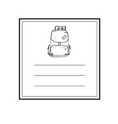hand drawn card template vector image