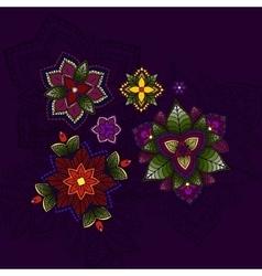hand drawn mandala circular colored pattern vector image