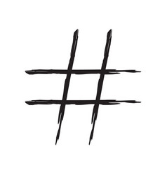 hashtag sign icon vector image