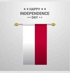 Indonesia independence day hanging flag background vector