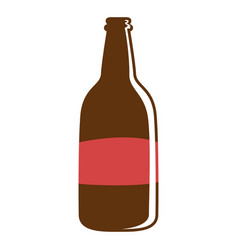 isolated beer bottle vector image