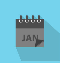 january calendar icon in modern flat style vector image
