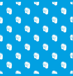 jeans button pattern seamless blue vector image