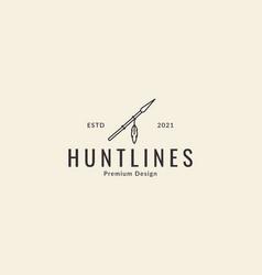 Lines hipster spear logo design icon symbol vector