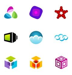Logo design elements set 21 vector