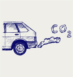 Machine exhaust gases vector