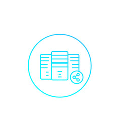 mainframe server shared hosting icon vector image