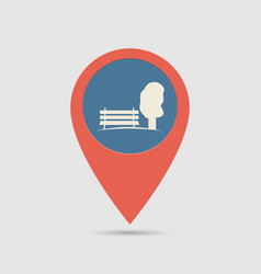 Map pin park vector
