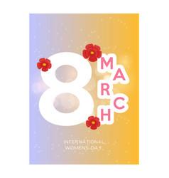 March 8 international women day paper cutout vector