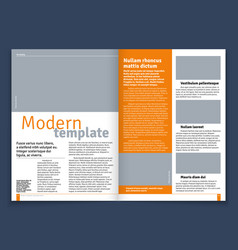 Modern magazine or newspaper layout with vector