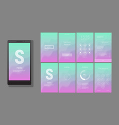 Modern ui gui screen design vector