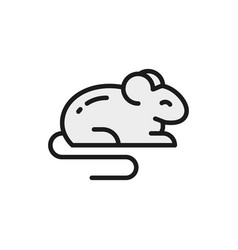 Mouse rat hamster rodent pet animal flat vector