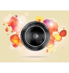 Music background with subwoofer vector