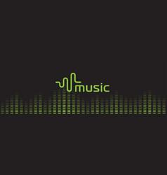 Music sound recorder logo audio equalizer vector