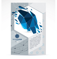 New technology theme booklet cover design front vector
