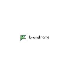 Origami abstract green logo 4 design image vector