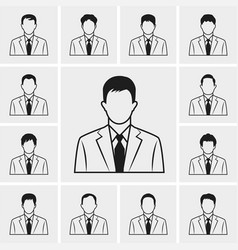 Out line business man icons set vector