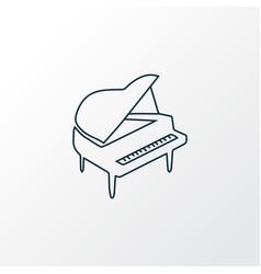 piano icon line symbol premium quality isolated vector image